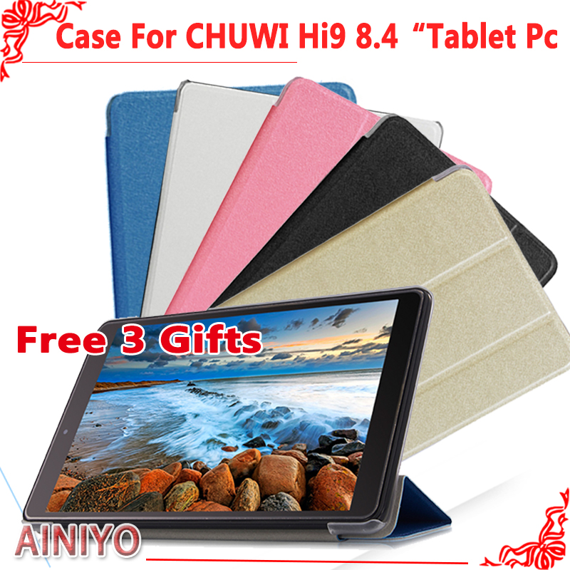 Ultra Slim Case For CHUWI Hi9 Tablet PC,Newest Fashion Case For chuwi hi9 8.4 inch Tablet PC Protective Cover+Screen Film gifts