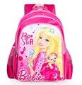2016 de la historieta encantadora barbie princesa bolsos de escuela para niñas niños mochila mochila mochila infantil