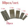 50 Pcs HSS 4241 Aço de Alta Velocidade Broca Tool Set 1/1. 5/2/2.5/3mm qstexpress