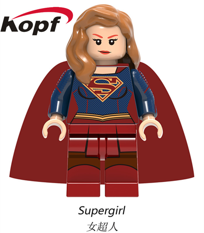 Single Sale Super Heroes Supergirl Superman Batman Evil Knight Hun Warrior Aborigines Building Blocks Toys for children XH 759 single sale pirate suit batman bruce wayne classic tv batcave super heroes minifigures model building blocks kids toys gifts