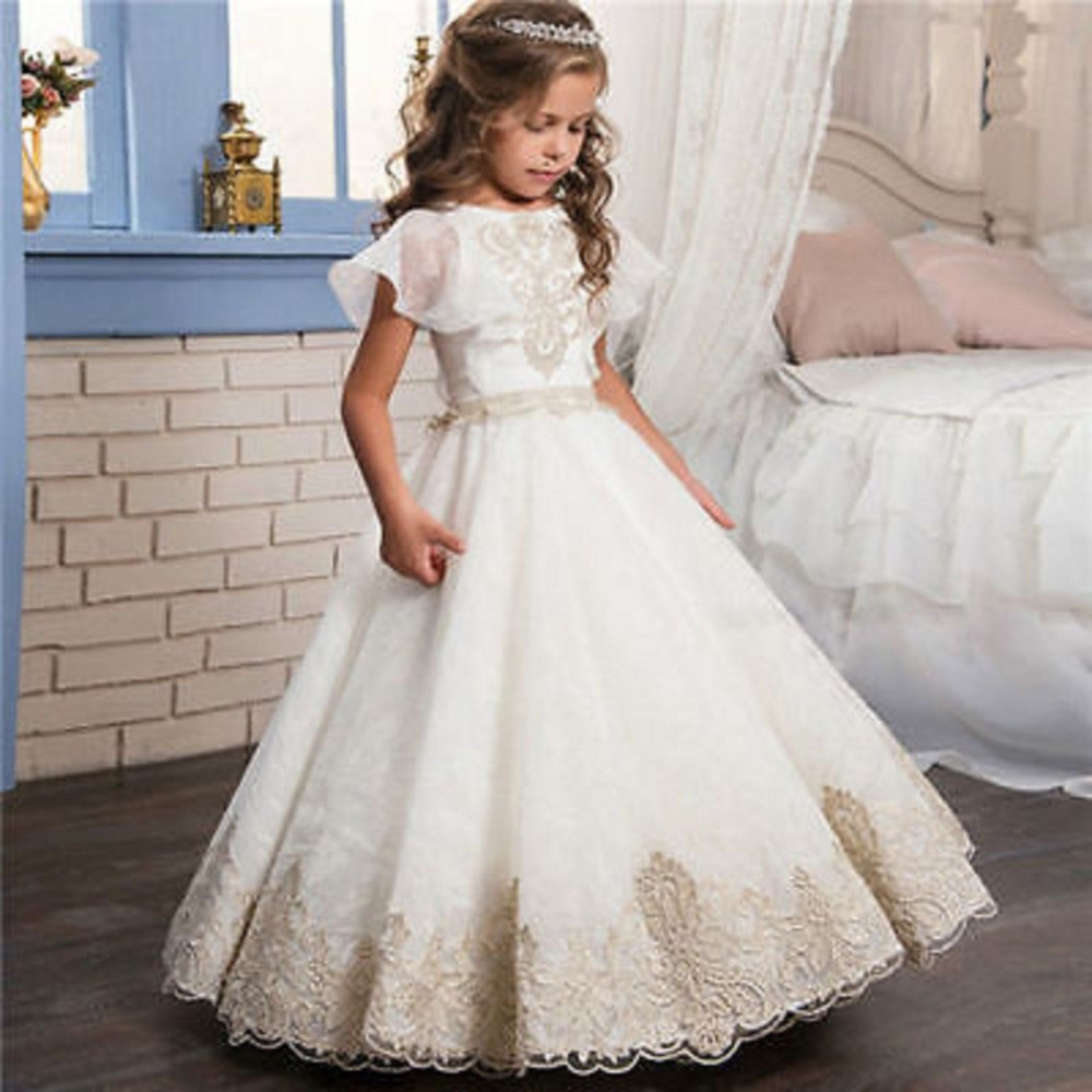 Pageant Party Evening   Flower     Girls   Kids   dresses   Birthday Prom Ball dance Pageant Gown   Flower     Girl     Dresses   Vestidos De Comunion