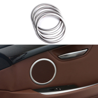 4x Stainless Ring Door Speaker Frame Cover Trim For BMW 5 Series GT F07 2010 2017