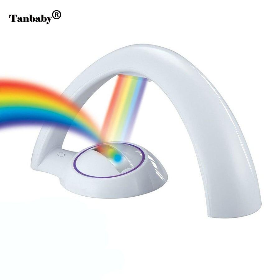 Tanbaby LED Colorful Rainbow Novelty Kids Night Light Romantic Sky LED Projector Lamp Luminaria Home Party Birthday Gift DMX DJ