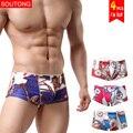 Soutong masculinos boxers underwear 4 unids/lote men underwear shorts soft modal hombres calzoncillos cueca calzoncillos boxers underwear