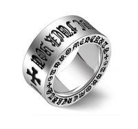 אישית מכירה הרומית אלפבית טבעות פלדת טיטניום זכר רטרו רחב פשוט טבעת מזון jewerly משלוח חינם