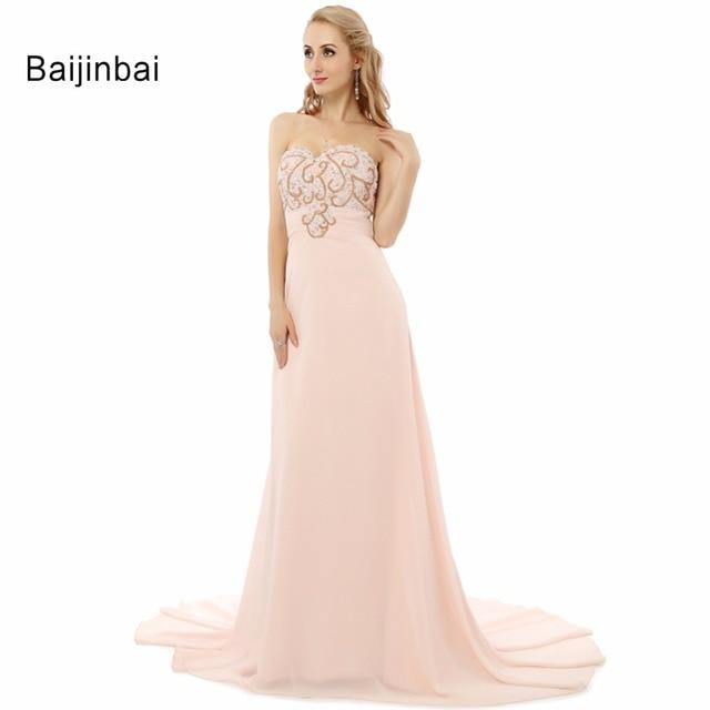 Rosa Perlen Stickerei Kleid