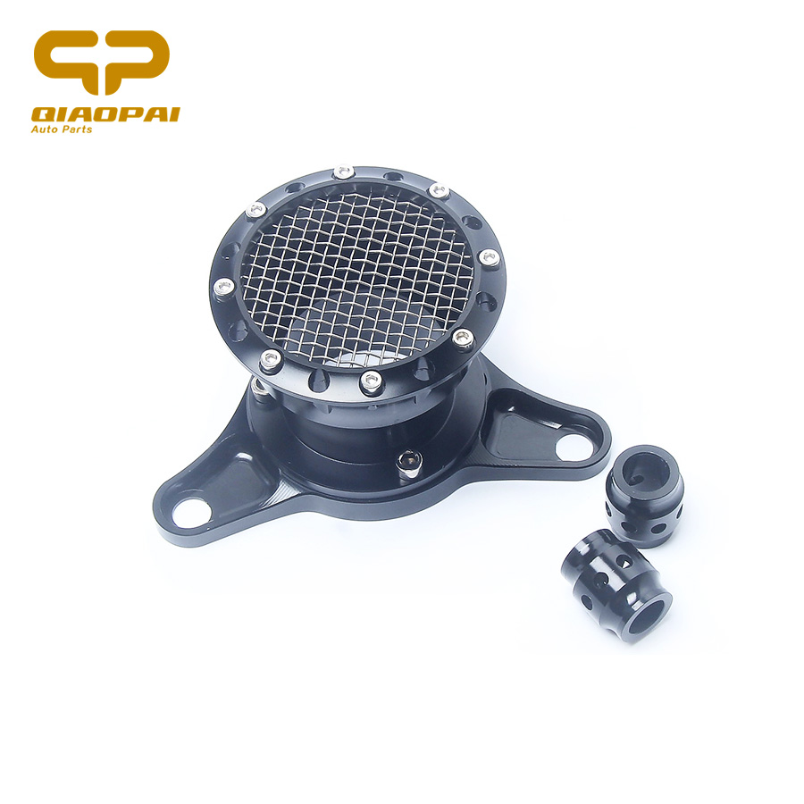 Air Filter Motorcycle Modified CNC Aluminum Retro Horn Air Intake Filter Cleaner For Harley XL 883 1200 48 Filtre a Air Autobike modified motorcycle accessories refires horn trolley belt oil pump cnc general horn refires