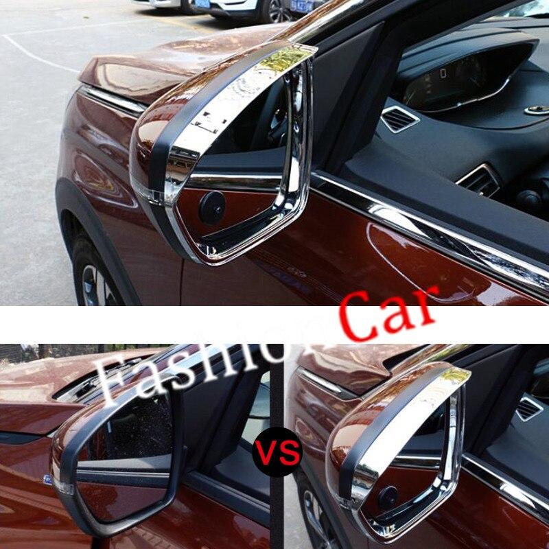 For Peugeot 5008 2017 2pcs/set ABS Chrome Rear view mirror visor Rain eyebrows cover Sun Rain Guard Shield Deflector Sun Visor poiqihy chrome rain
