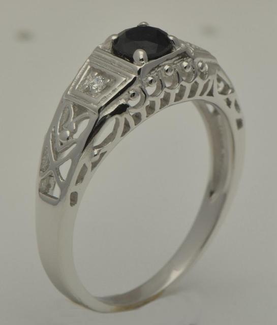 Livraison gratuite traitement personnalisé luxe mariage royal charme délicat 14 k Jin Tianran saphir anneaux