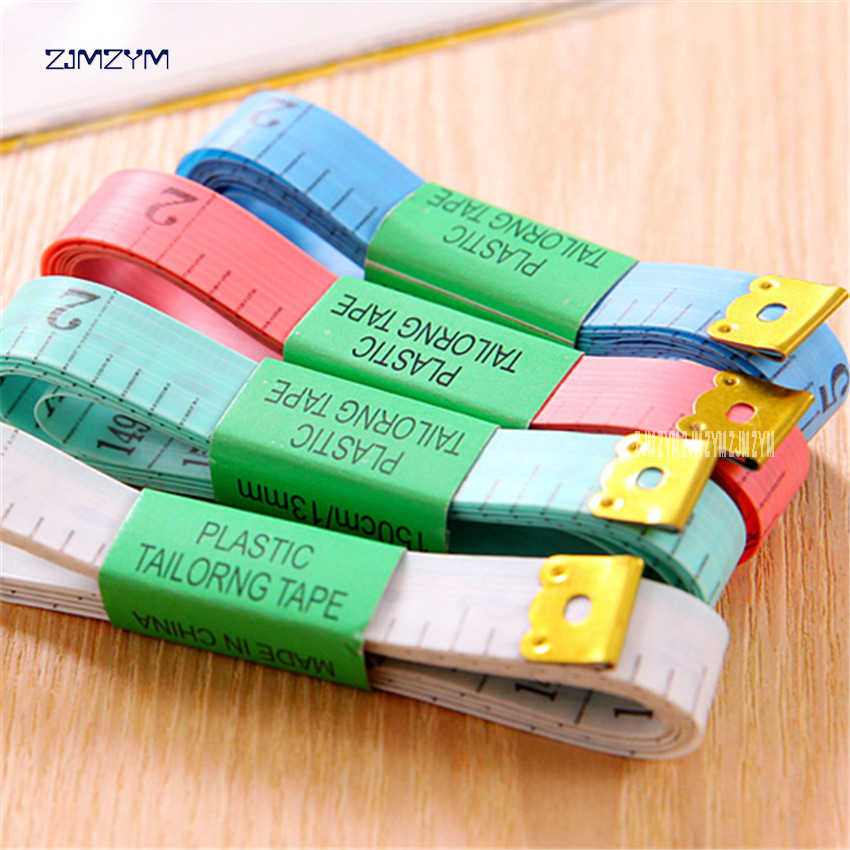 Best Body Measuring Ruler Sewing Tailor Tape Measure Soft 1.5M*1.1CM Sewing Ruler Meter Sewing Measuring Tape Random Color