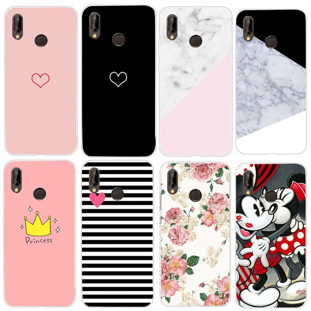 For Huawei P20 Lite Case Marble Cover Huawei P9 Lite Case