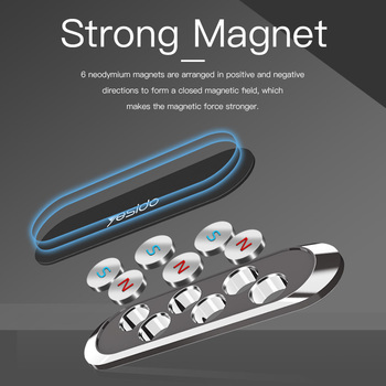Mini Strip Shape Magnetic Car Phone Holder Stand For iPhone Samsung Huawei Wall Metal Magnet GPS Car Mount Dashboard 3