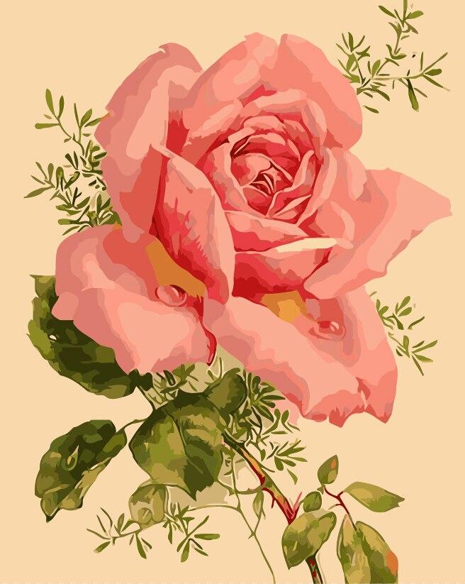 Hermosas flores Flor de primavera Cuadros con pintura al óleo por - Decoración del hogar