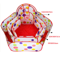 1m 1.2m 1.5m Outdoor Baby Playpen Children Indoor Pool Play Tent Kids Safe Polka Dot Hexagon Playpen Portable Foldable Playpens