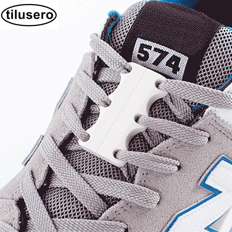 Lacing System Magnetic Shoelaces Lock Shoes Buckles Closure No Tie Shoelace Buckle Laces F063