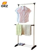 ORZ Foldable Clothes Hanger Metal Duty font b Storage b font font b Rack b font