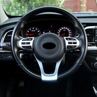For KIA Stonic 2017 ABS Matte Car Steering wheel Button frame Cover Trim internal car styling accessories 2pcs