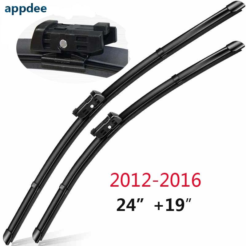 Listy stěračů čelního skla pro VW Volkswagen Passat B7 2012 a dále Fit Silikonové gumové stírací rameno