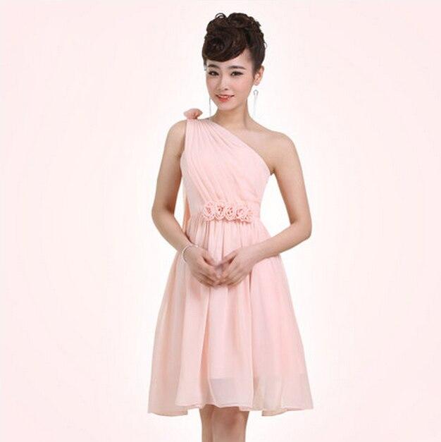 Semi formal en línea de color rosa gasa de las señoras de las ...