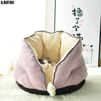 GANYUE New Deep Sleep Cat Nest Dog Bed Pet Cat Bed Warm Cat House Pet Nest Autumn and Winter