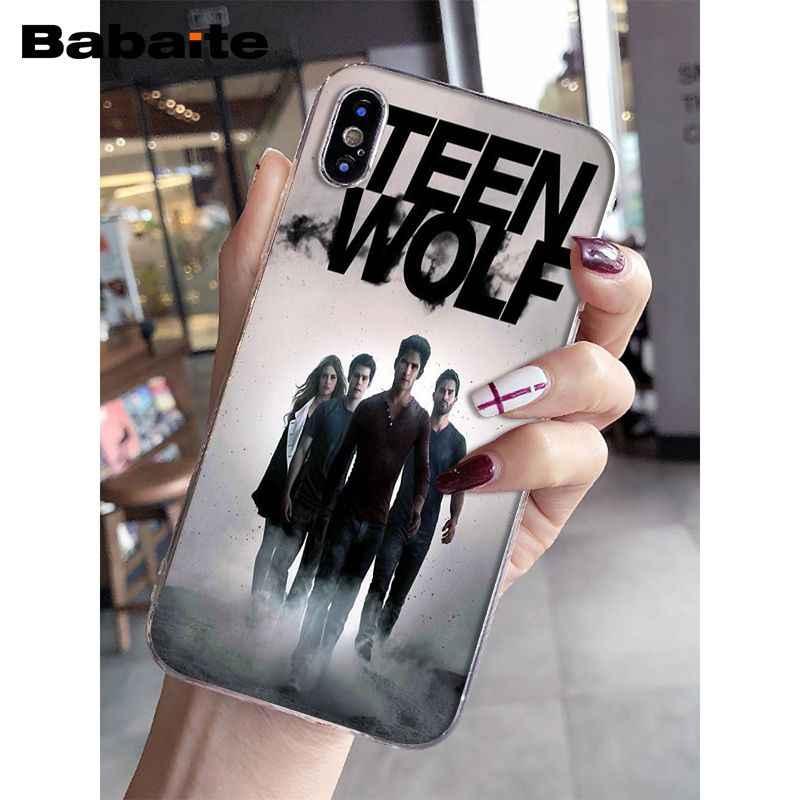 Babaite dylan obribrien adolescente lobo legal diy desenho caso do telefone capa escudo para apple iphone 8 7 6 s plus x xs max 5 5S se xr capa