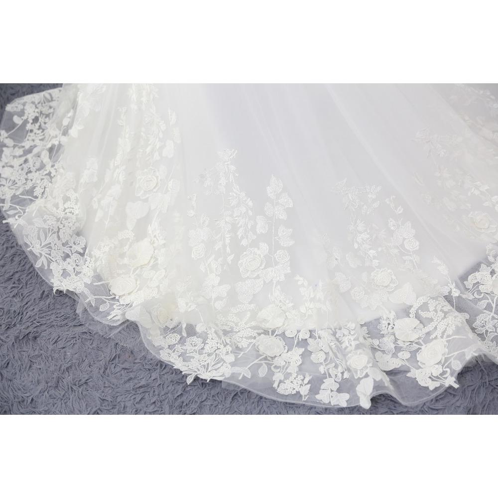 Lover Kiss Wedding Dress 2017 Vintage Mermaid Lace Appliques Bead Robe de Mariage Sexy Back Bride Dresses Vestido de Noiva 7