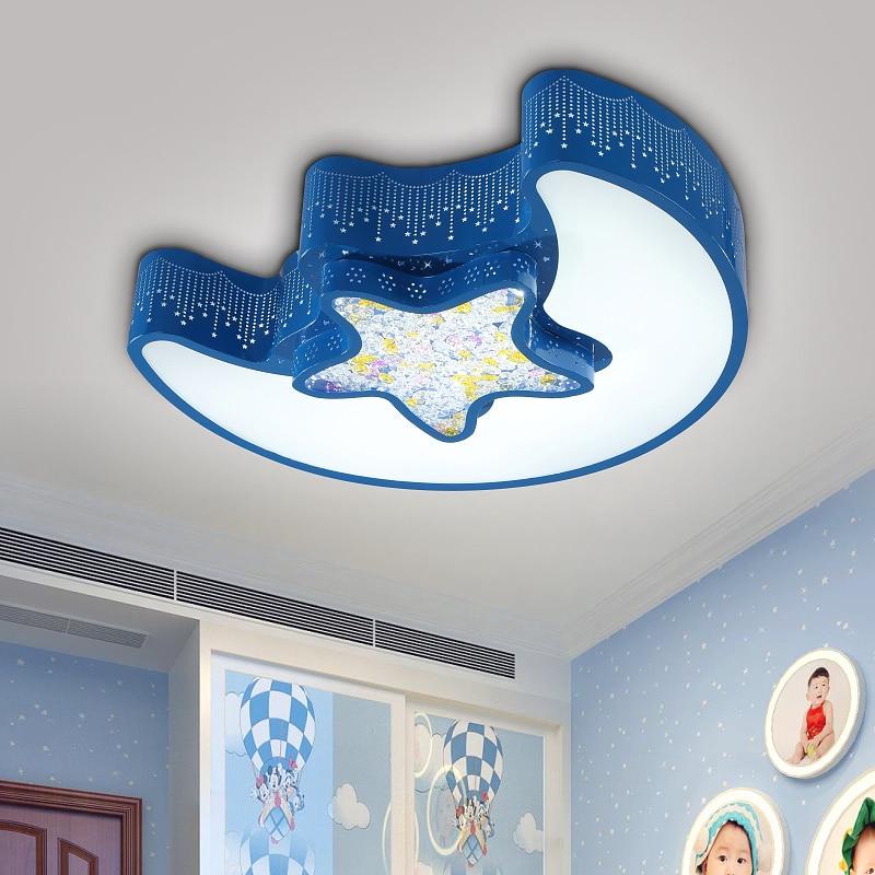 Coroful Cartoon Children Room Lights Creative Moon Star Lights LED Cute Bedroom ceiling lights kids room Ceiling Lamps