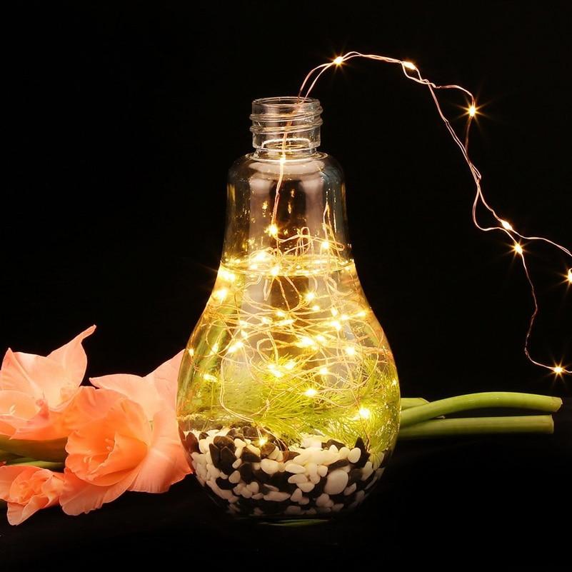 led string light 2-10M 20-100led supply outdoor Fairy light warm - Мерекелік жарықтандыру - фото 2