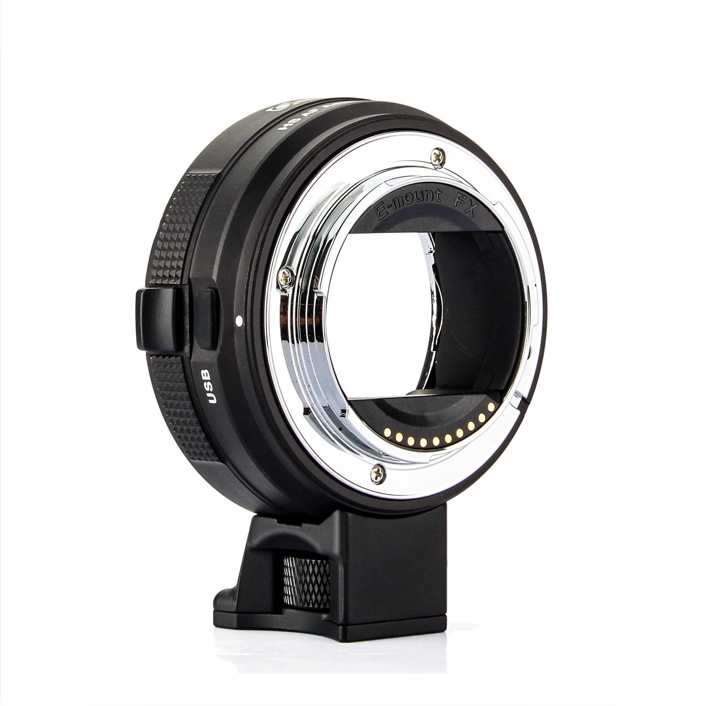 Bague d'adaptation Commlite EF-E HS haute vitesse pour monture d'objectif électrique pour objectif Canon EF/EF-S pour Sony A9 A7RIII A6300 e-mount camera