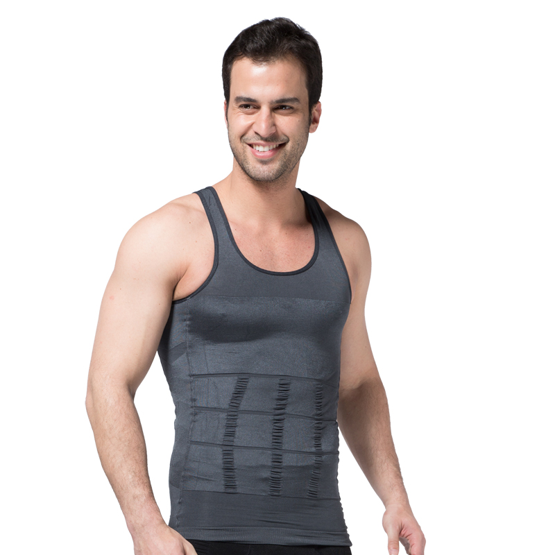 f075ac26bbe Men Shaper Vest Slimming Body Shaper Waist Cincher Tummy Control Girdle  Shirt Underwear Belly Shaperwear Tank