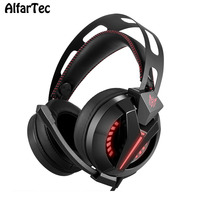 HiFi Wired Computer Gaming LED Light Headphone With Mic Noise Canceling Headband Super Bass Stereo Headset
