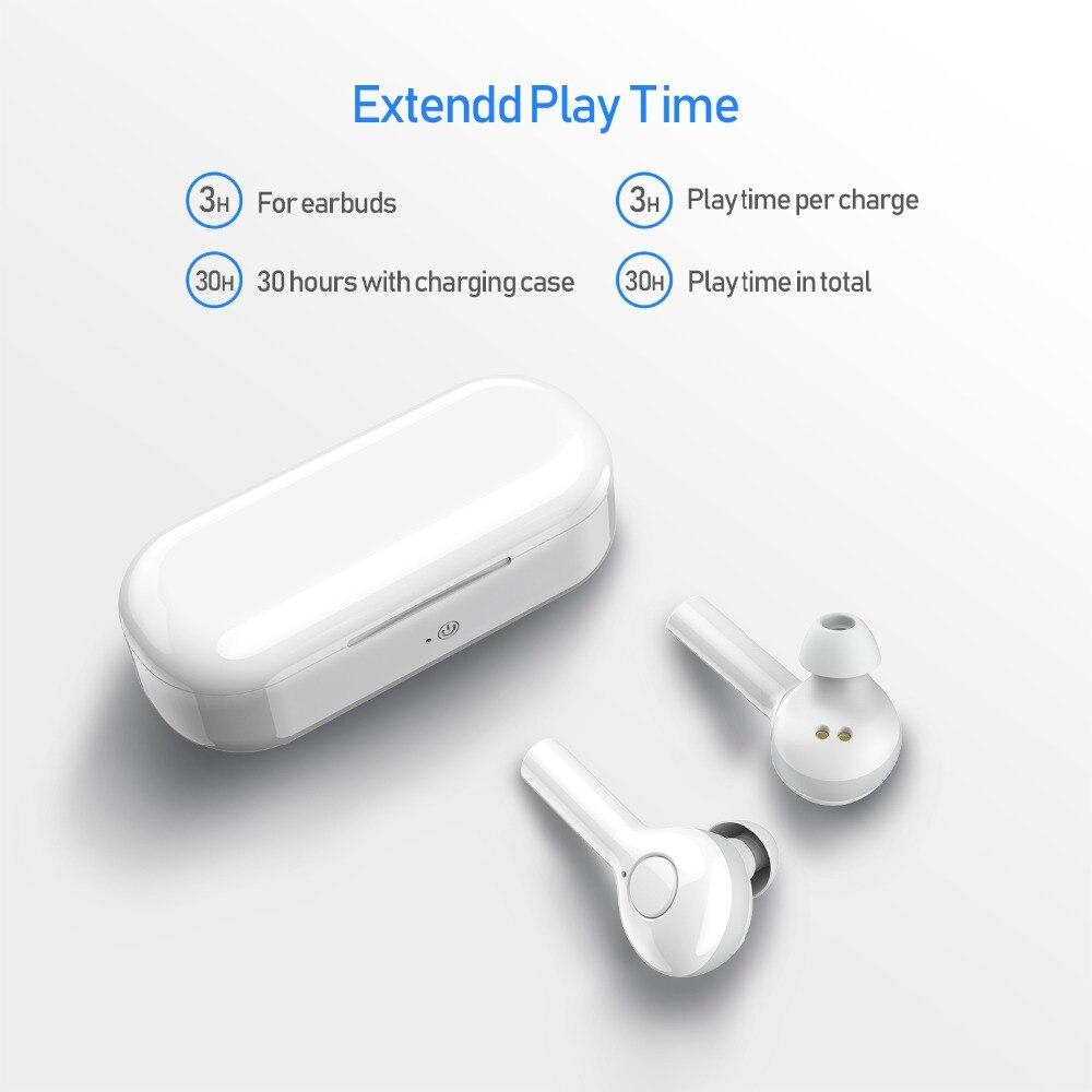 Haut Bluetooth 5.0 écouteurs pour tous les téléphones intelligents Mini sans fil écouteurs sport casque casque pour Samsung pour Xiaomi Huawei - 5