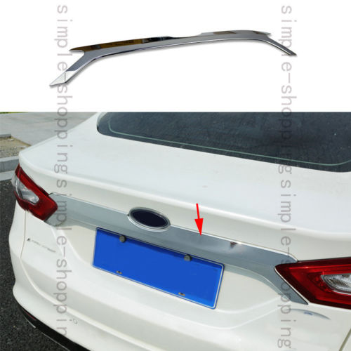 Chrome Rear Door Trunk Lid Cover Strip Molding Trim For Ford Fusion Mondeo 13 15