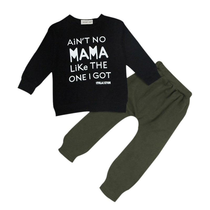 2PCS Children's Sets Kids Baby Toddler Boy Clothes Set T-shirt Tops+ Long Pants Leggings Outfits New Year