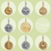 Signo del zodiaco Aries Tauro Géminis, Cáncer, Leo, Virgo, Libra, escorpio Capricornio, acuario Piscis encanto de Plata de Ley 925 regalo de plata