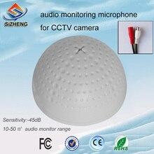SIZHENG COTT-QD20S Resin PVC audio pick up CCTV surveillance device sensitivity microphone 12v sound monitoring