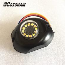 G12 çift renkli LED Hideaway çakarlı lamba, 12*3W LED, 35 flash, LED yüzey montaj ışığı, araba kamyon yan Strobe far