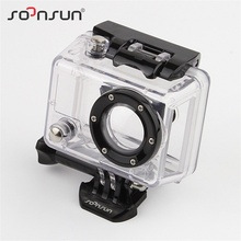SOONSUN Skeleton Housing Case Side Open Case Protective Cover with Glass Lens for GoPro Hero 2 for Go Pro Hero2 Accessories