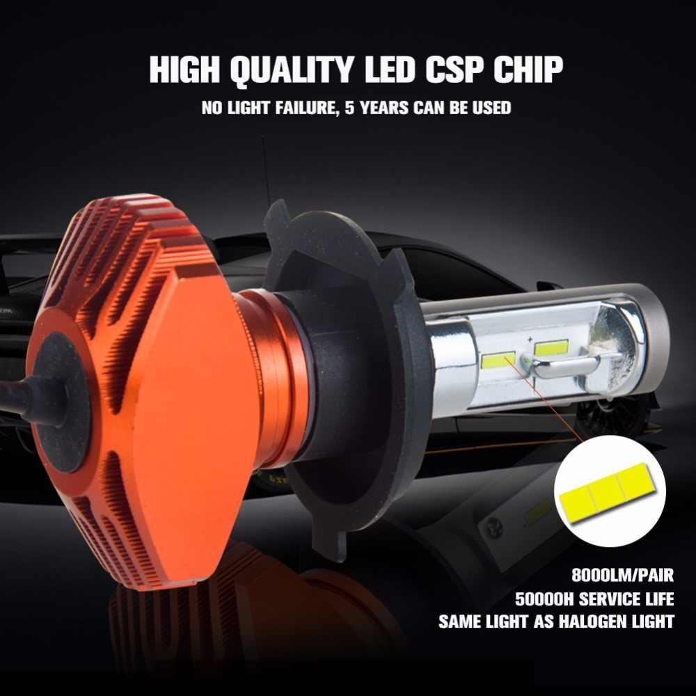 AmmToo  H7 Led Car Headlight Fanless H11 H4 Led Bulb 9005 HB3 9006 HB4 Led Light H8 Car Light 24V 12V Auto 80W 8000LM 6500K CSP