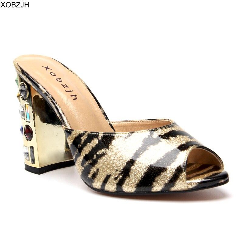 Leopard Sandals Women Shoes 2019 Luxury Designer Crystal High Heels Peep Toe Rhinestone Sandals Ladies wedding Shoes Woman in High Heels from Shoes