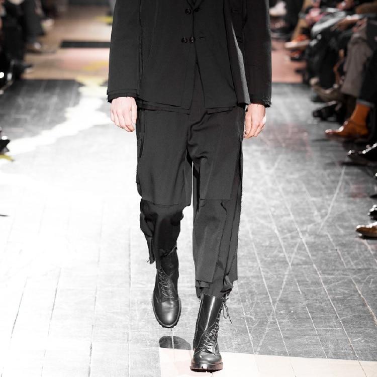 27-44   Big yards men's clothing!!!  2018  Custom! The costume of the original men's casual pants fashion show