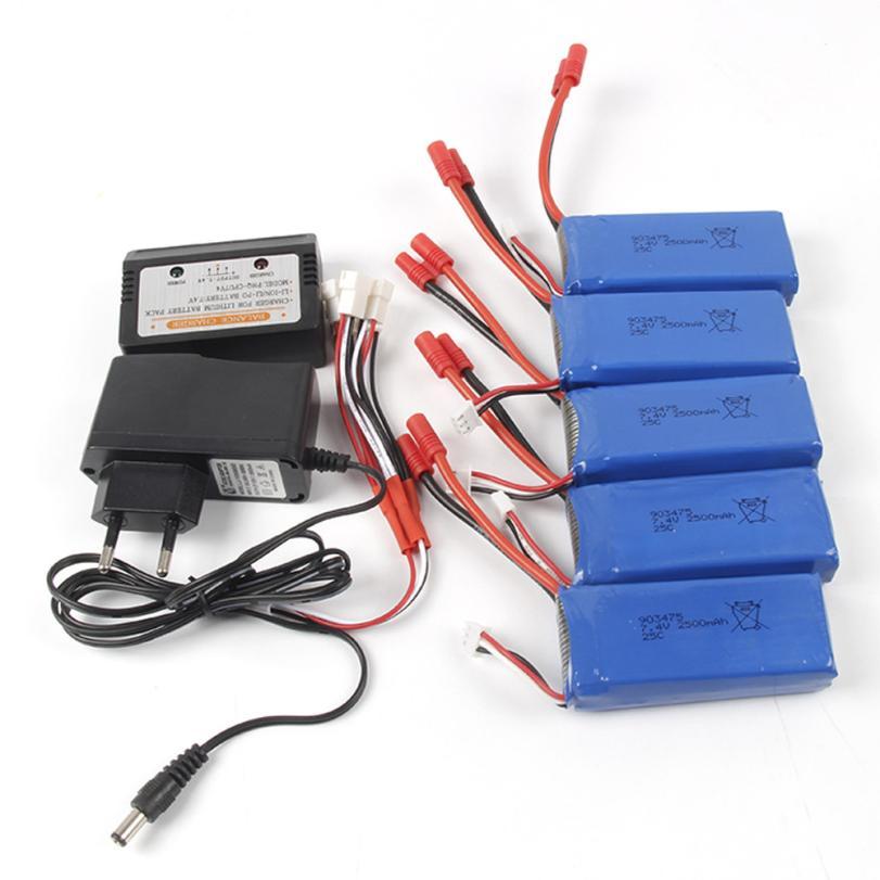 Accessories Battery For RC quadcopter 7.4V 2500mAh/2000mA Li-Polymer Battery + Balance Charge For X8C/X8W/X8G/X8HC/X8HW/X8HG JY4