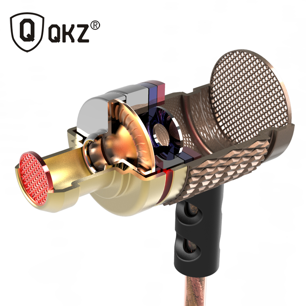 QKZ DM6 Earphone Professional In-Ear Earphones fone de ouvido Metal Heavy Bass Sound Quality audifonos Music auriculares professional earphone metal heavy bass music earpiece for highscreen power ice evo ice max headset fone de ouvido with mic