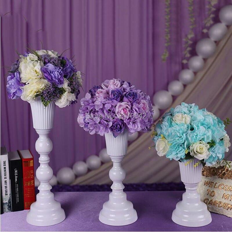 blanc de table en mtal fleur vase dargent vase de table pour la maison
