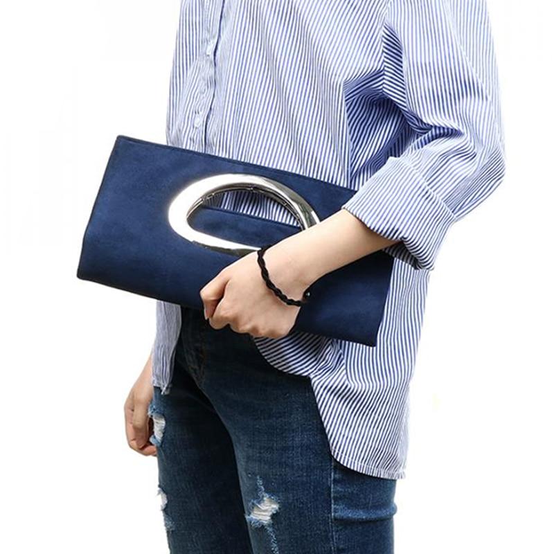 Brand Fashion Female Clutches Bag Purple Flannelette Women Handbags Blue Bucket Bag Black Hasp Crossbody Bags Casual Women Bag