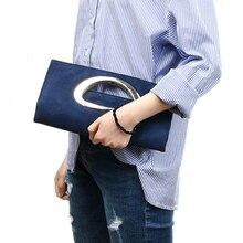 แบรนด์แฟชั่นผู้หญิง Clutches กระเป๋าสีม่วง Flannelette ผู้หญิงกระเป๋าถือสีฟ้าสีดำกระเป๋า Hasp Crossbody กระเป๋ากระเป๋าสตรีกระเป๋า