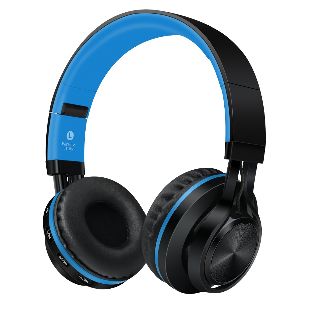 Sound Intone BT-06 Bluetooth Headphones Wireless Stereo Headsets with Microphone support TF Card FM Radio for Cell phone airpods аккумулятор security force sf 1240