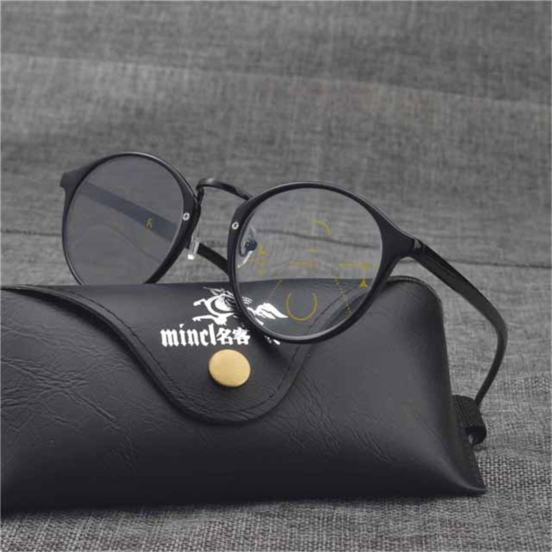 MINCL/Progressive Multifocal glasses Transition Sunglasses Photochromic Reading Glasses Men Points for Reader Near Far sight FML vintage reading glasses women men retro alloy prescription eyewear rectangle business hyperopia presbyopia eyeglasses 1.5