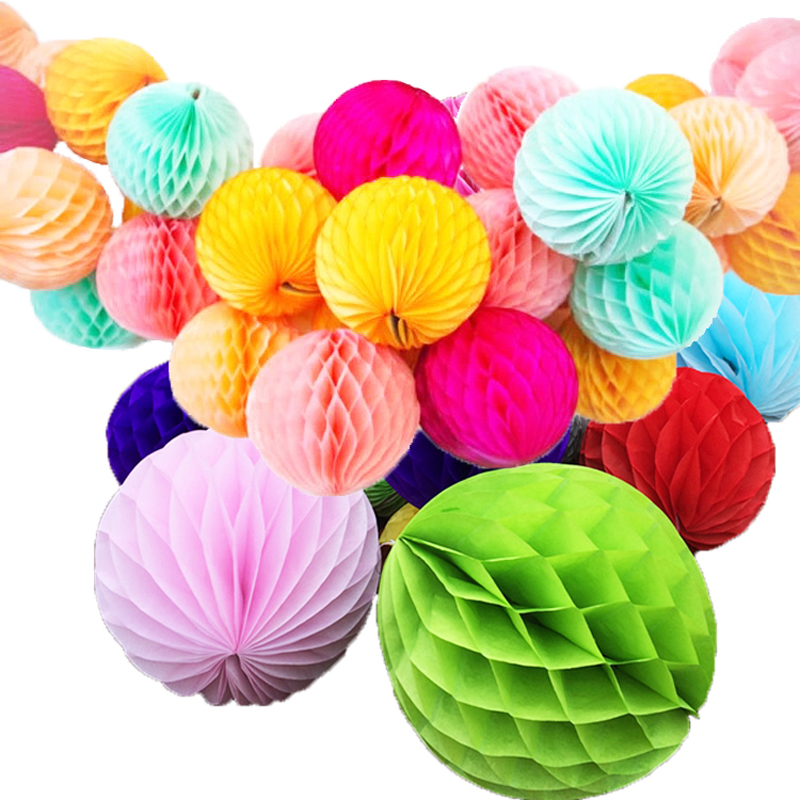 Haochu Large Size Tissue Paper Honeycomb Balls 12 30cm For Wedding Birthday Party Decorations Home Garden 5pcs Lot Leather Bag