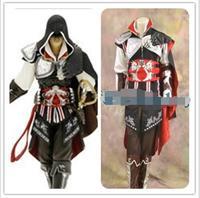 Disfraz de Halloween Anime Cosplay Assassins Creed de Assassin Creed II Ezio Traje ropa conjuntos traje para los hombres